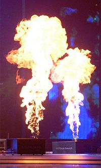 Пиро шоу на новый год дракона 2012