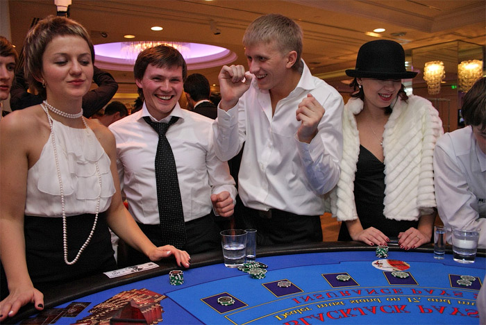 Организация юбилея в казино