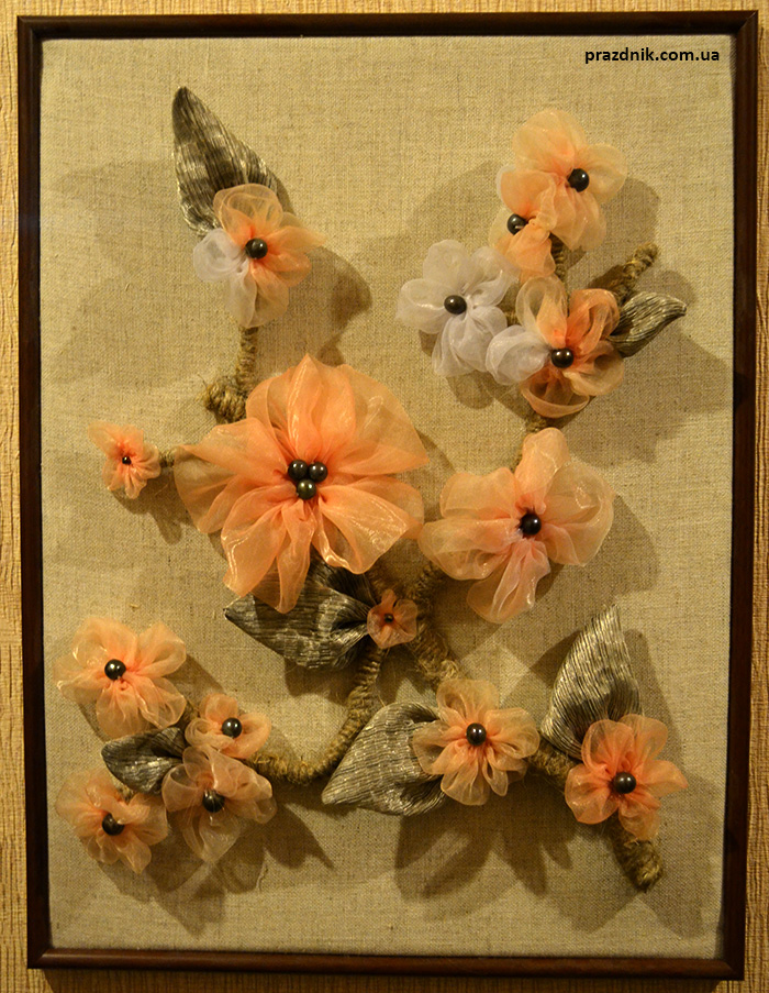 3d объёмная картина из ткани ручной работы