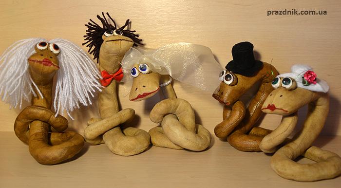 Мягкие игрушки змеи ручной работы для 2013 Года Змеи