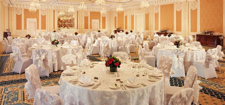 Зал для проведения свадеб в отеле Fairmont