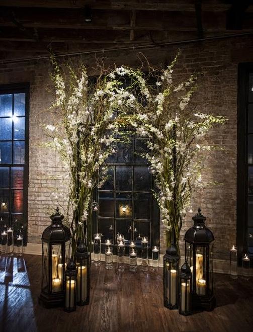 свадебная арка в помещении